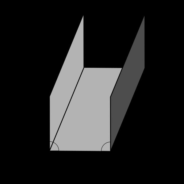 1,00 m Winkelblech aus Kupfer. Kupferwinkel Eckprofil Blechwinkel